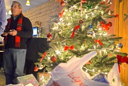 Forest Park Mayor Anthony Calderone thanks attendees for donating gifts on Wednesday, Dec. 13, during the mayor's annual toy drive at Cocina Lobos on Madison Street in Forest Park. | Alexa Rogals/Staff Photographer