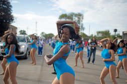 The Proviso East High School color guard perform on Saturday, Oct. 7, during the Proviso Homecoming Parade in Maywood. | File photo