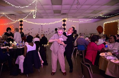 Zenna Sims, left, dances with Wendy Koehane.   Alexa Rogals/Staff Photographer