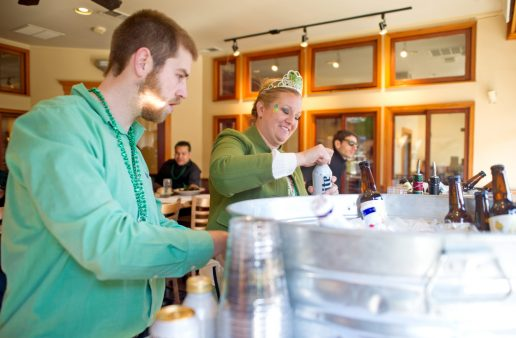 Bars and restaurants serve up beer and drinks to attendees on Saturday, March 3, 2018, during the annual Saint Patrick's Day Parade on Madison Street in downtown Forest Park. | Alexa Rogals/Staff Photographer
