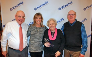 "In January 2018, the Kiwanis Club of Forest Park honored longtime Review columnist Jackie Schulz for 47 years of writing ""Talk of the Town."" (Photo by Keegan Brown)"