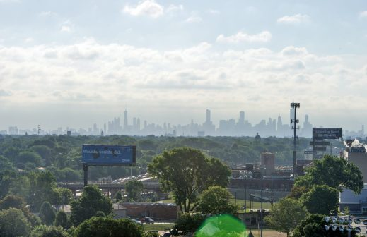 The Chicago city skyline seen from the Park District of Forest Park on Harrison Street. | Alexa Rogals/Staff Photographer