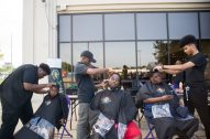 Students from Erskine Reeves Barber Academy give out free haircuts. | Alexa Rogals/Staff Photographer
