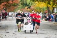 Team Hash House Harriers race to the finish line. | Alexa Rogals/Staff Photographer