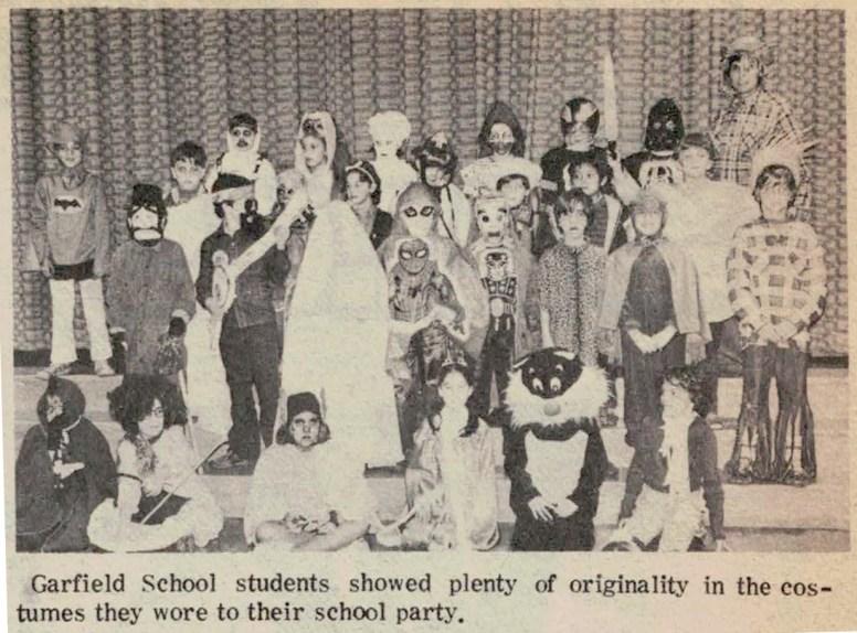 Garfield School 1978 costumes