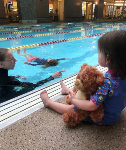 Huber's kids both learned to swim before age 3. | Submitted photo