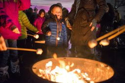 Alex Hovar, 5, of Forest Park, roasts marshmallows for s'mores. | Alexa Rogals/Staff Photographer