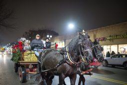 Participants take horse drawn sleigh rides. | Alexa Rogals/Staff Photographer