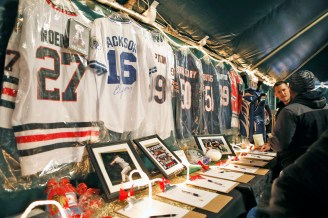 Signed jerseys and sports memorabilia were available in a silent auction (Sarah Minor/Contributor)