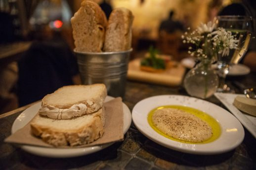 Executive Chef Gaetano Di Benedetto offers different vegan cheeses and vegan butter at at Gaetano's Italian restaurant on Madison Street in Forest Park.   Alexa Rogals/Staff Photographer