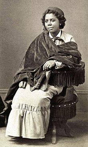 Mary Edmonia Lewis, sculptor from America, was African-Haitian-Ojibwe, studying and working much of her career in Rome.