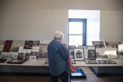 Attendees look through a display of Forest Park history on Saturday, March 23, 2019, during the first Community and History Festival at the Park District of Forest Park on Harrison Street. | ALEXA ROGALS/Staff Photographer
