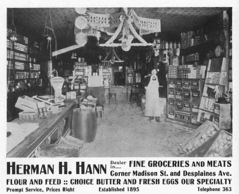 Herman H. Hann's grocery store was progressive, selling fine foods and fancy groceries.