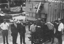 Another highlight during the 1964 Clean up, paint up, fix up week was a view of sewer-cleaning operation under Commissioner Mike Lambke's department.