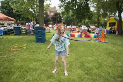 Kids play with hula hoops from Wonder Works. | Alexa Rogals/Staff Photographer