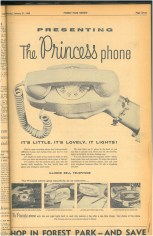 As the name implies, the princess phone, was surely a lovely phone to use.