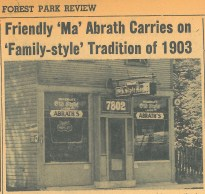 """Although a carwash today, this was once a tavern owned by Mr. Lobisher starting in 1903. It was the closest saloon to Concordia Cemetery and served pork chops and sauerkraut. Carl Abrath, a German immigrant, purchased it in 1940. His wife, Nellie, was Lithuanian and learned english over the years. She was known as """"Ma Abrath,"""" and had many patrons look after her when Carl passed suddenly."""