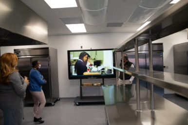 D209 celebrated Proviso East's new culinary lab at a ribbon cutting ceremony last month. | Shanel Romain