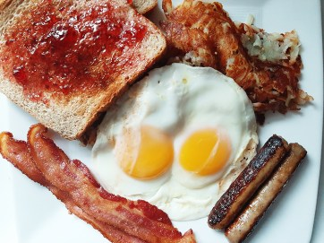 Keep it classic with eggs, bacon and sausage from Louie's Grill. Melissa Elsmo.
