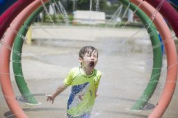 Although the pool was closed this summer, the Park District of Forest Park opened the splash pad, with social distancing rules in place. | File photo