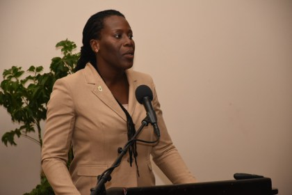 Head of the Ministry of the Presidency's Department of Environment, Ms. Ndibi Schwiers