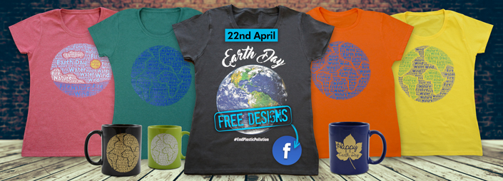 325e613af Free Designs, Newsletters. Celebrate Earth Day with our FREE T-Shirt Designs