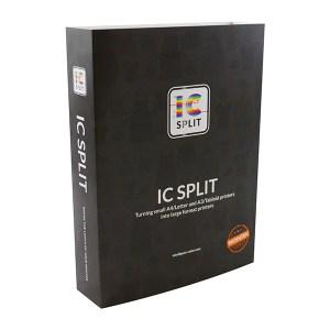 IC-Split Software Diese Software ermöglicht es den Kunden, mit einem A4 oder A3 CMYW, CMYK Laser oder Sublimations-Drucker, Formate von A2 und Größer zu drucken.