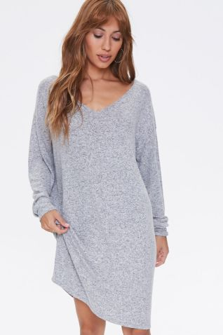 Marled Shift Mini Dress, image 1