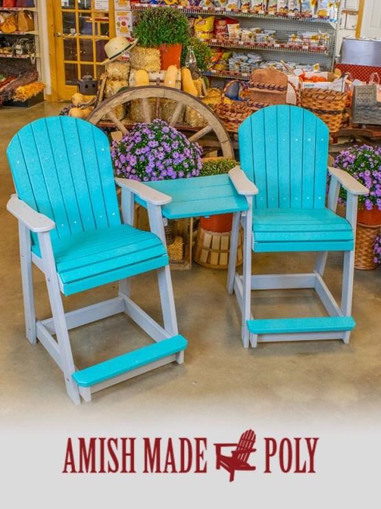 Amish Made Poly - Tete, Aruba on Light Gray