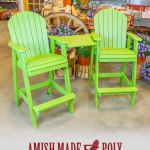 Amish Made Poly - Bar Height Tete, Lime