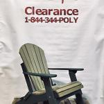 Folding Poly Adirondack Chair - Clearance