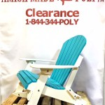Amish Made Adirondack Rocking Chair Aruba Blue on White Clearance