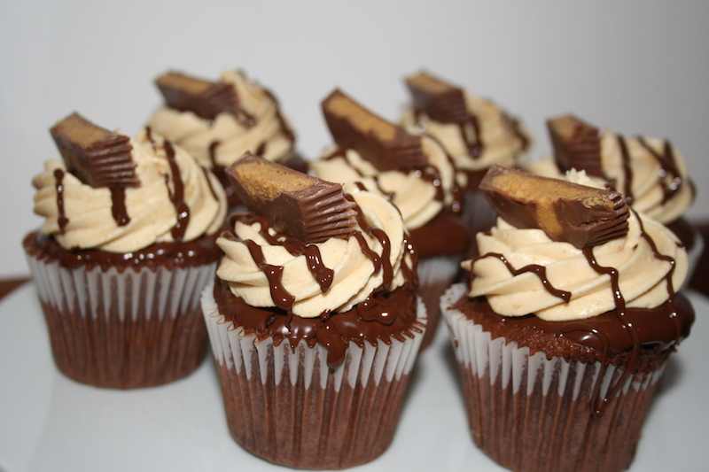 chocolate peanut butter cupcakes uk