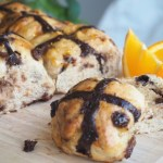 Chocolate Orange Hot Cross Buns