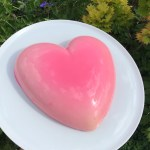 White Chocolate and Raspberry Cheesecake Heart