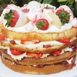 Summer Strawberry and Cream Layer Cake