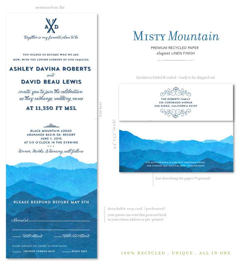 Colorado Wedding Invites