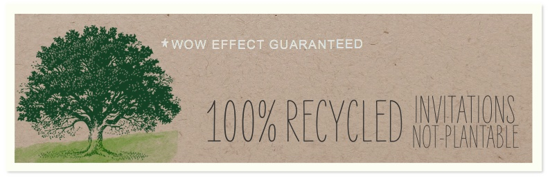 Recycled Paper Wedding Invitations Eco Friendly