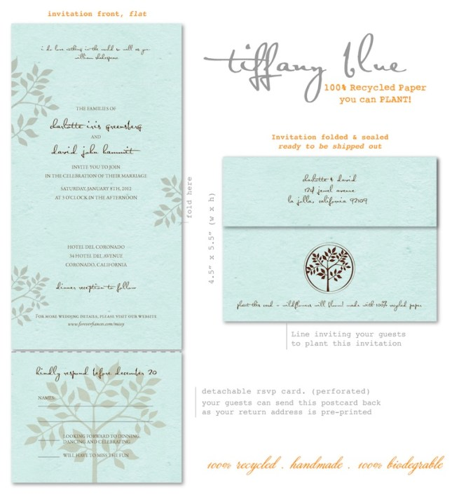 Blue And Brown Wedding Invitations
