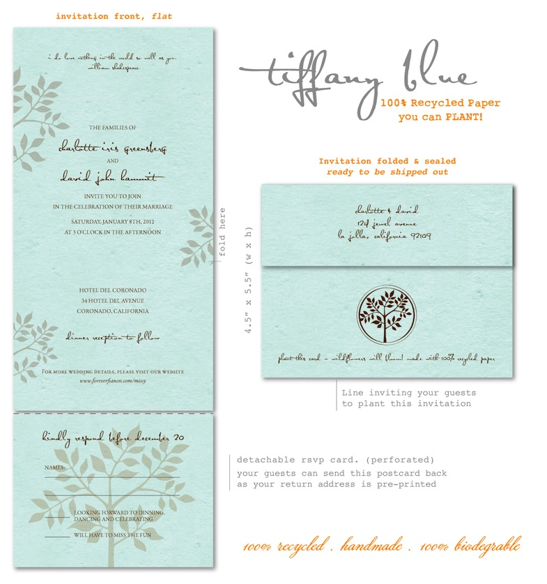Tiffany Blue Invitations