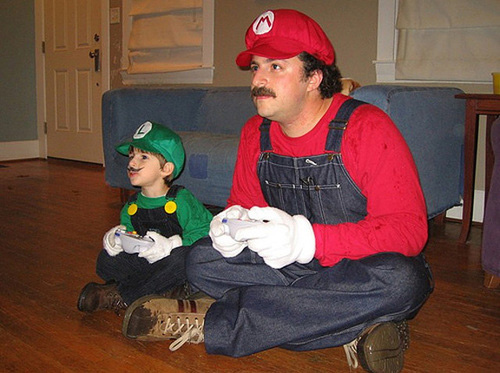 Mario and his son