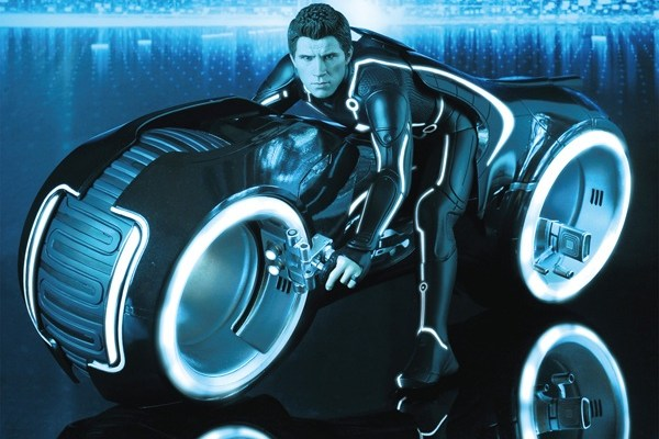 Tron - Sam Flynn - Realistic Looking Light Cycle Toy