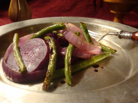 Salad of Green Beans, Onions and Beets