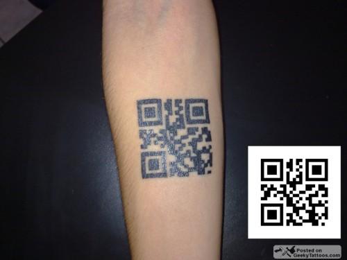 QR Code Tattoo Jully
