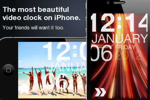vlock iPhone clock