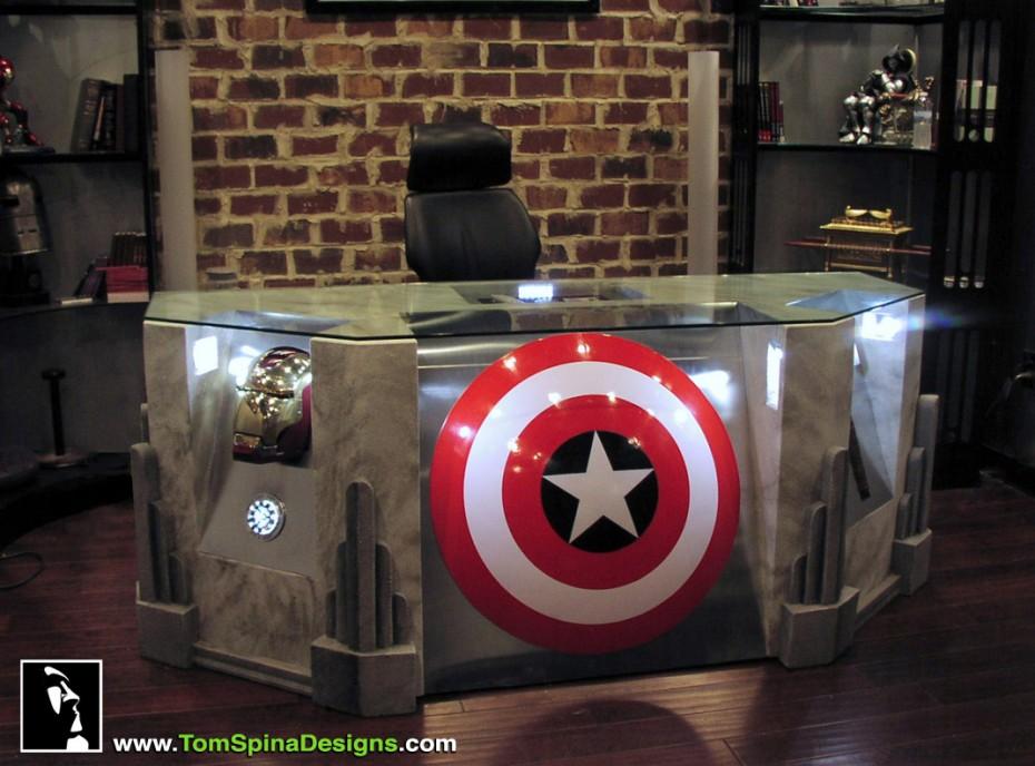 The Avengers Movie-themed Desk