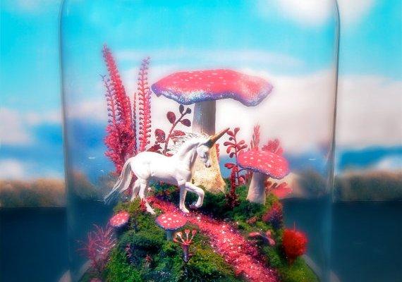 Magical Mushroom Unicorn Garden