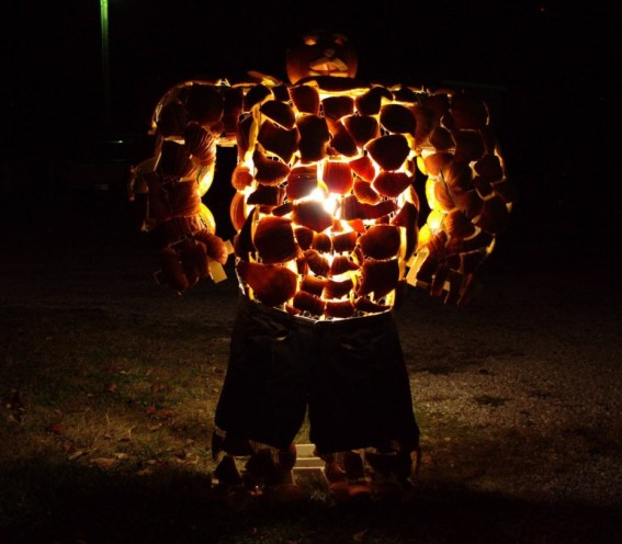 Fantastic Four's The Thing in Pumpkin