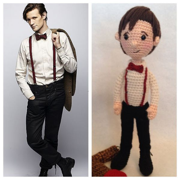 Crocheted Doctor Who Dolls