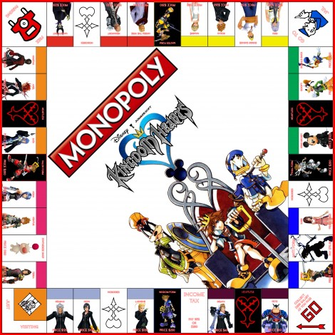 monopoly homemade board games kingdom hearts